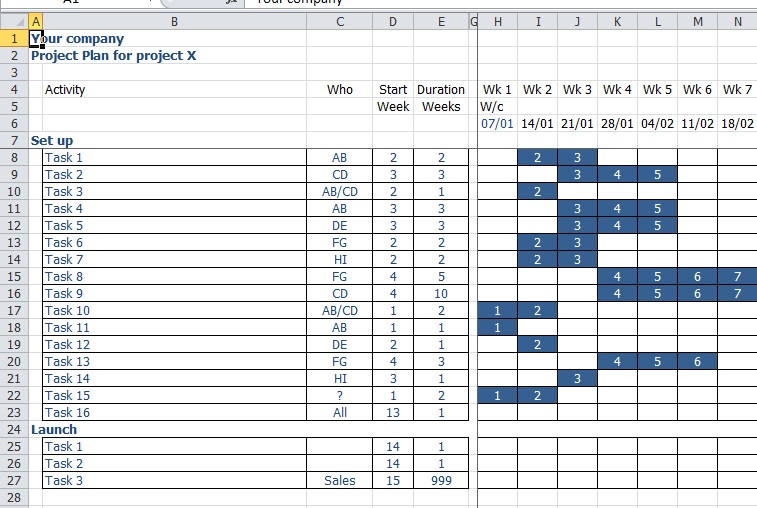 excel task tracker template sample