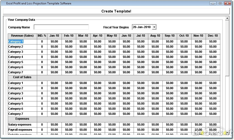 free download profit and loss account format excel sample