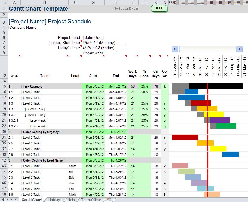 gantt chart maker excel sample