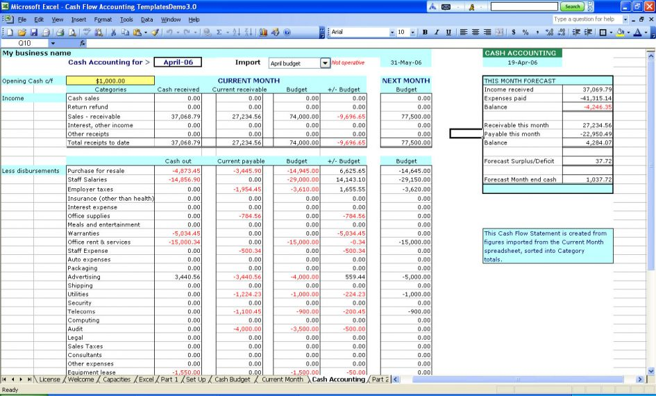 income and expenditure template excel free sample