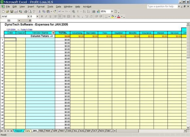income and expenditure template for small business 2