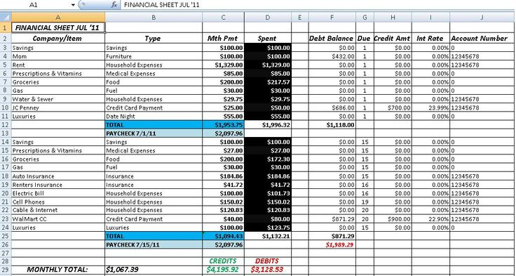 personal daily expense sheet excel sample