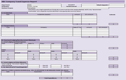 small business expense spreadsheet template free sample