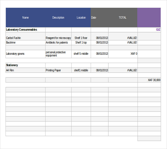 stock inventory excel format free download sample