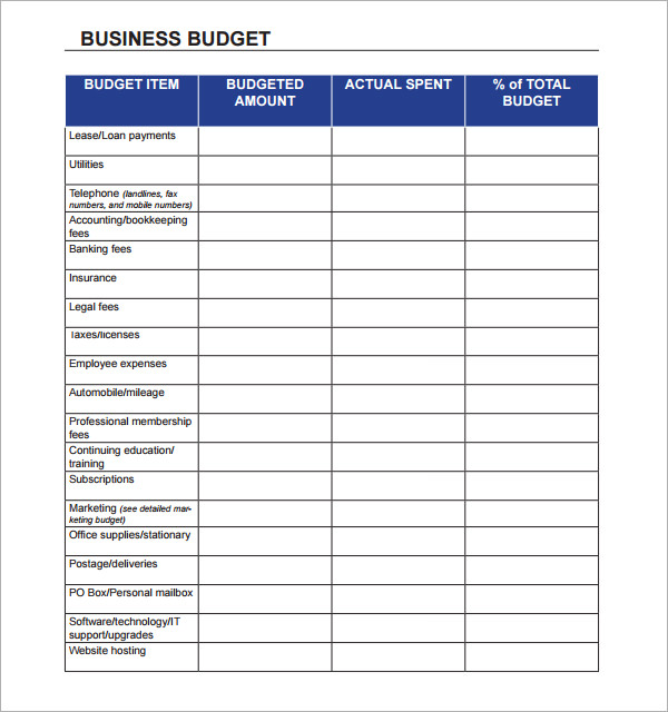 annual business budget template excel sample 1