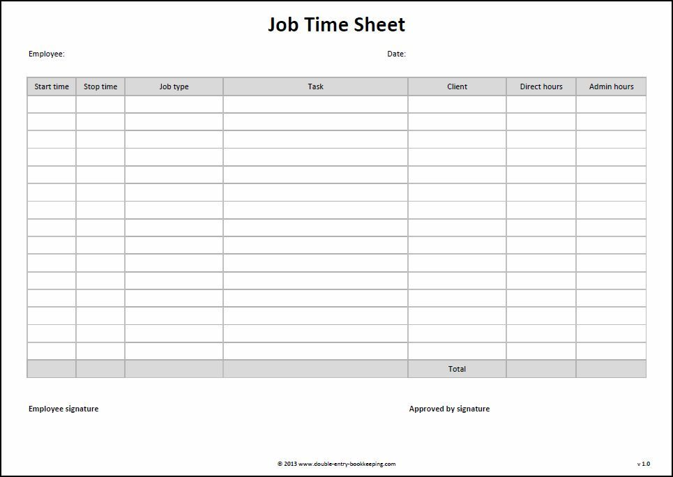 basic monthly timesheets template