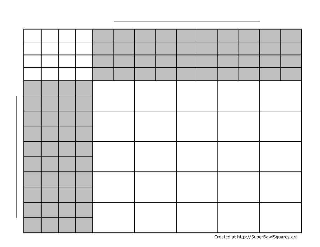 blank 100 square grid printable sample
