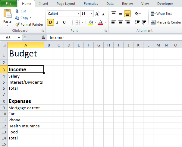 blank budget worksheet printable sample