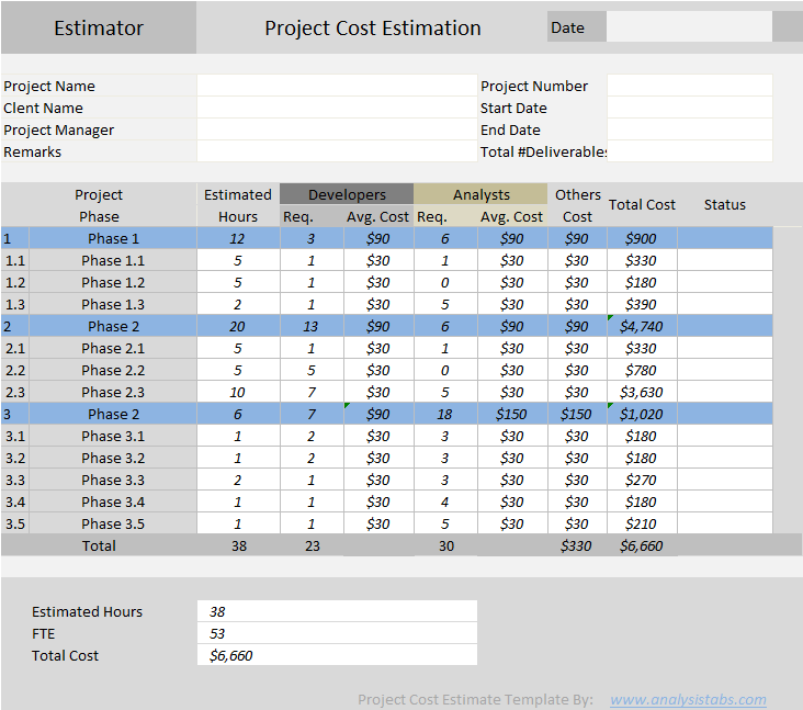 building estimate format in pdf 1