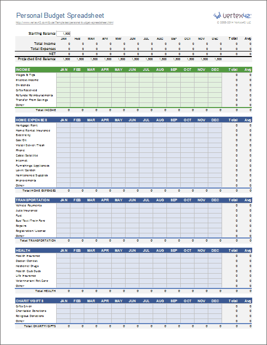 create excel templates