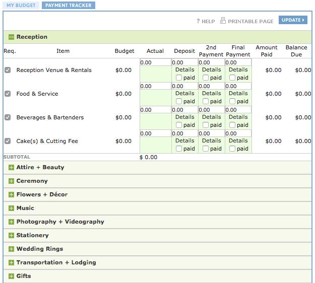 event budget calculator sample