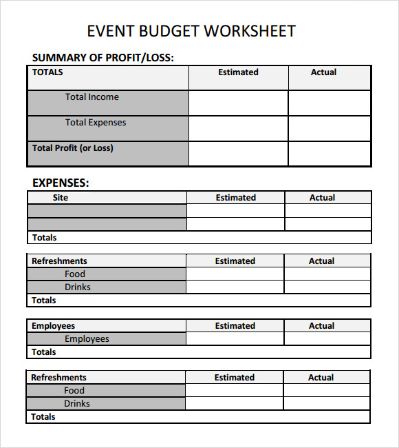 event budget proposal template