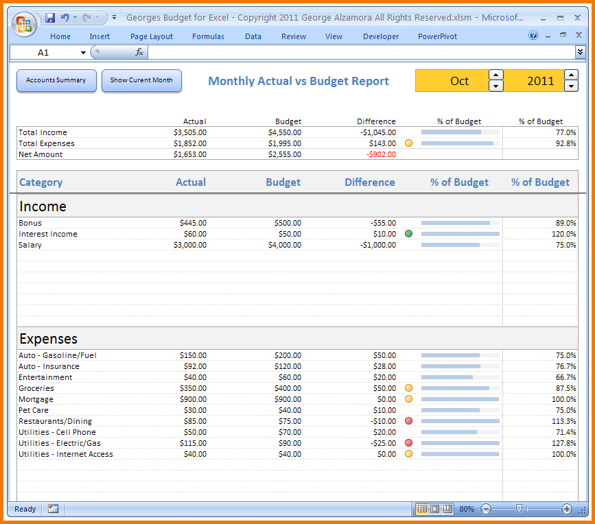free budget spreadsheet sample