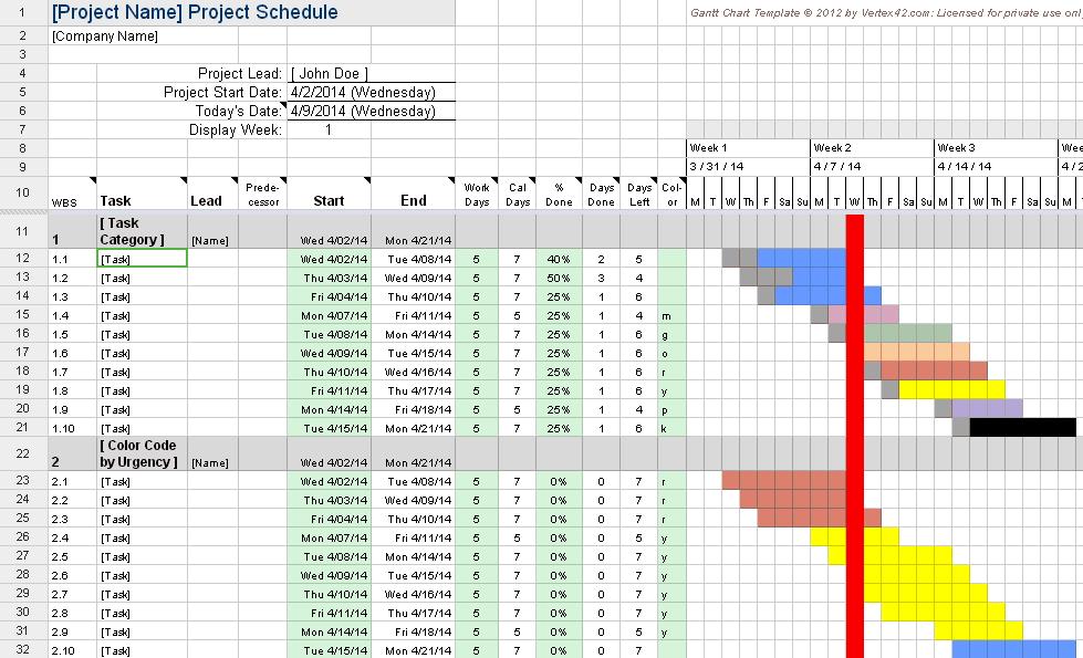 gantt chart google spreadsheet sample