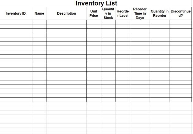 how to maintain store inventory in excel sample 1