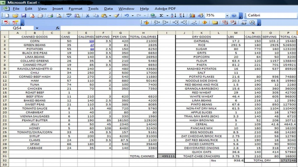 personal budget template excel sample 2