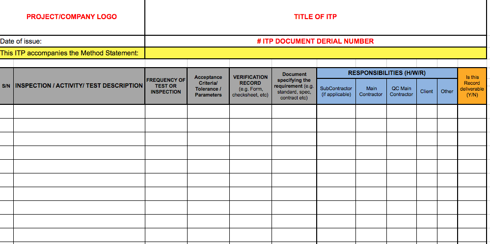 quality control chart excel sample