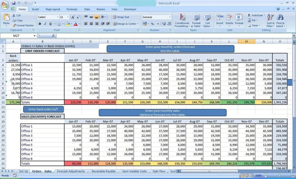 sample excel spreadsheet data