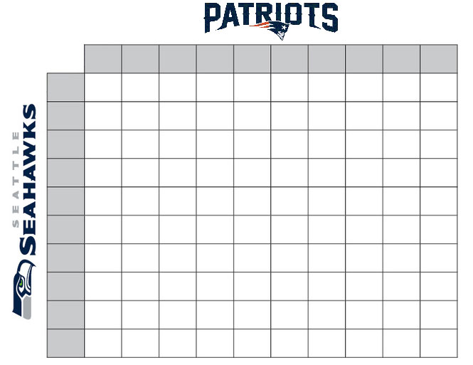 super bowl squares fundraiser sample