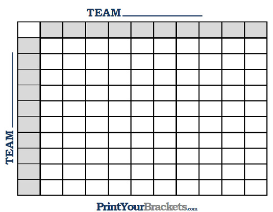 super bowl squares template excel sample