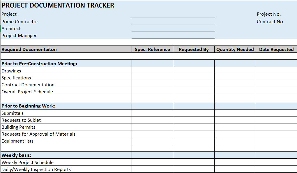 contract tracking spreadsheet excel sample