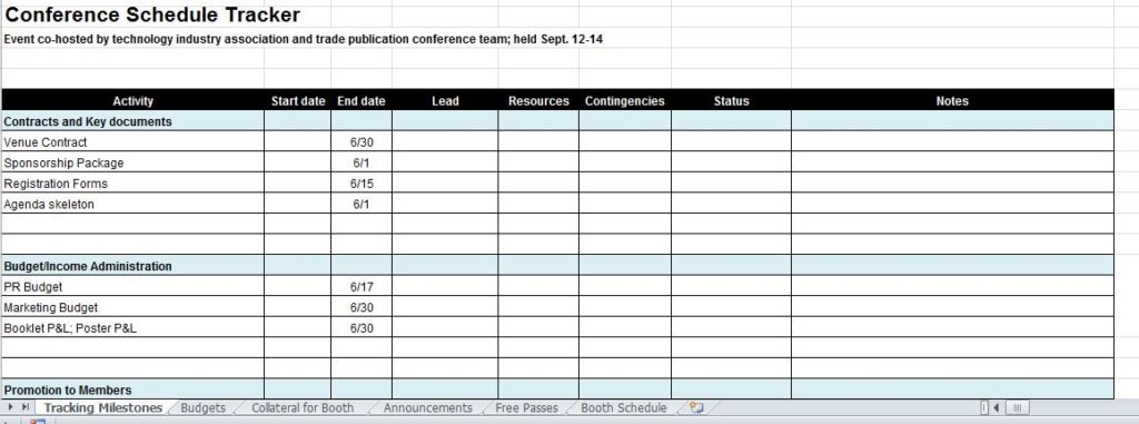 event project plan template excel