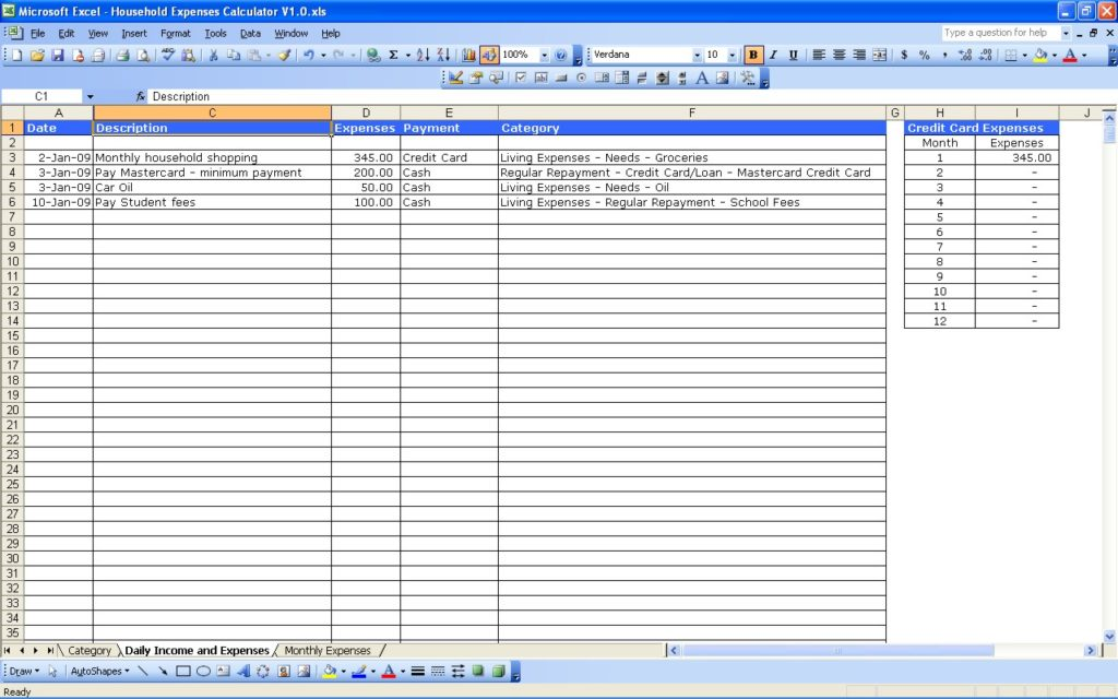 excel business budget template 1