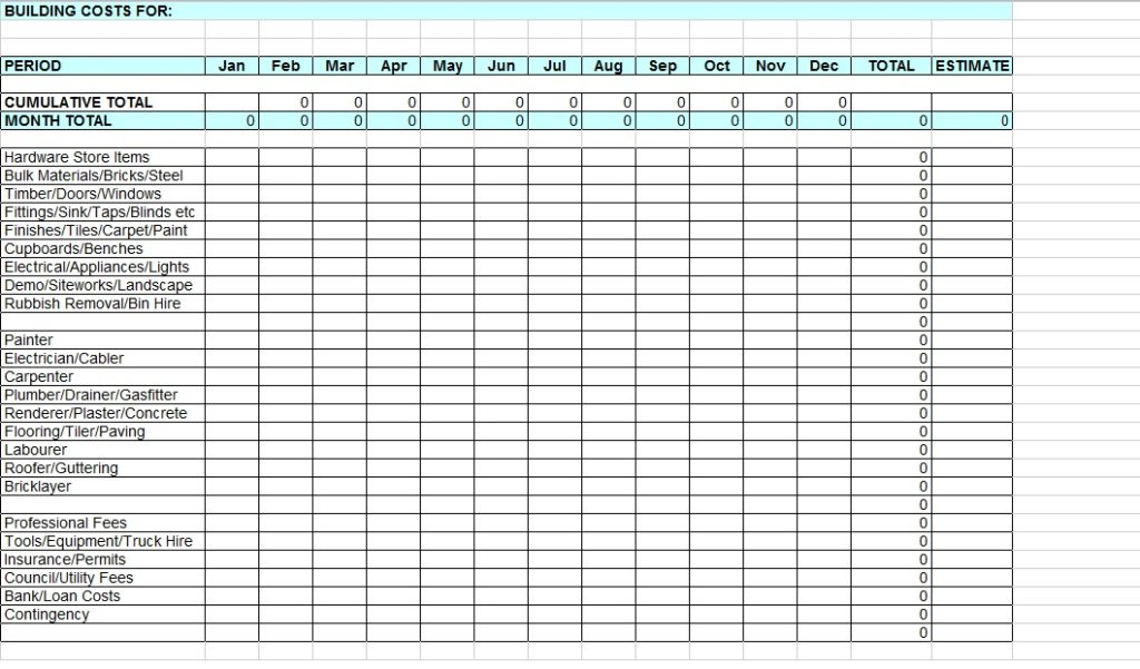 excel monthly budget template 1
