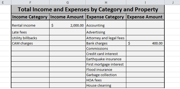 income tax excel spreadsheet sample