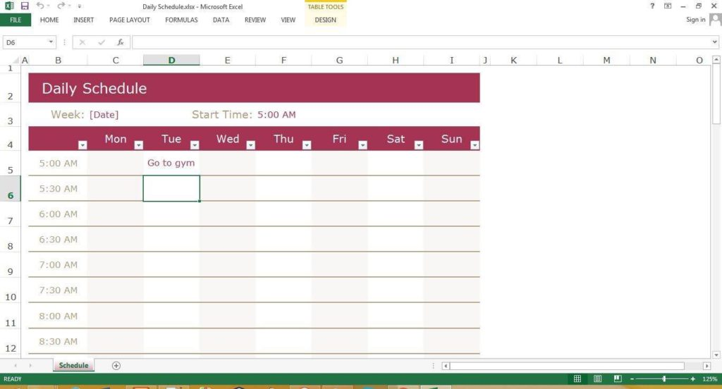 Excel Timesheet Template | ctcomputers us