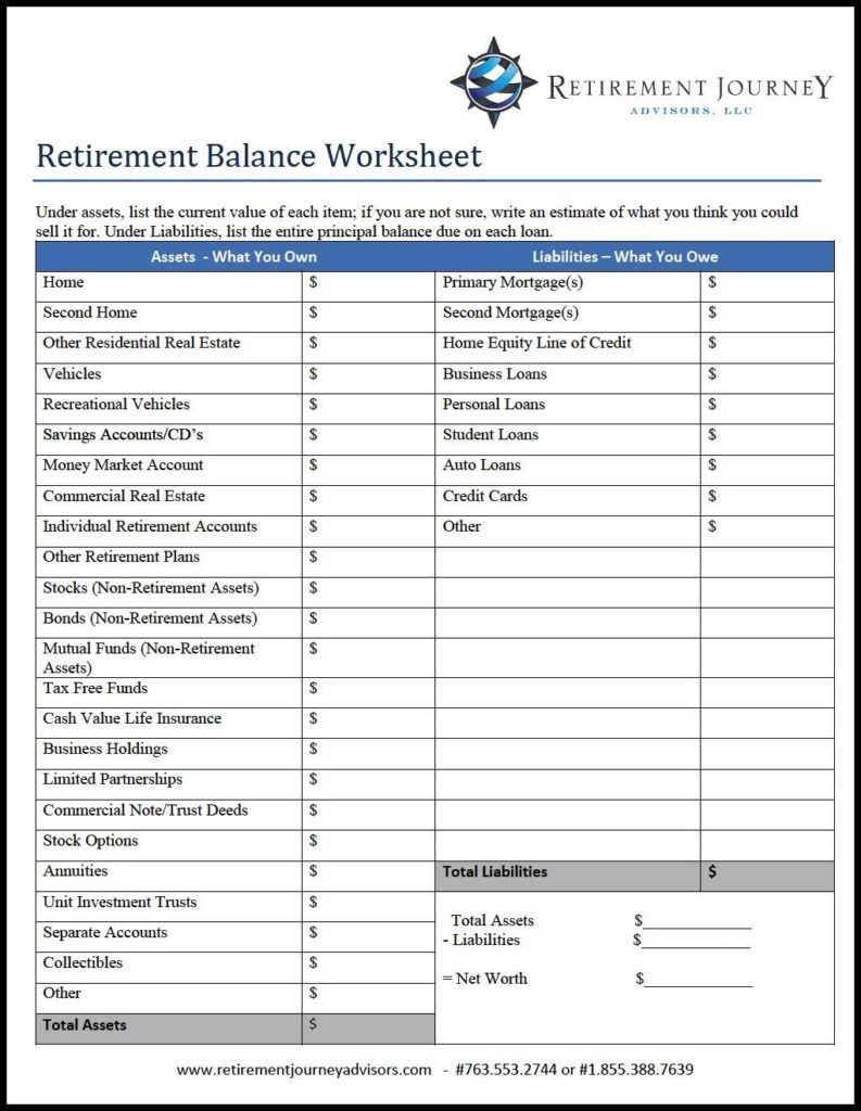 Free Retirement Excel Spreadsheet