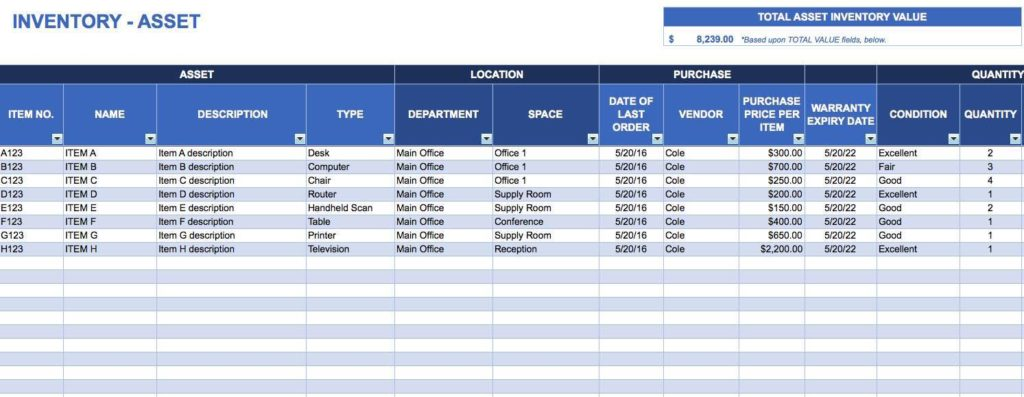 Inventory Control Excel Spreadsheet for Retail Ordering