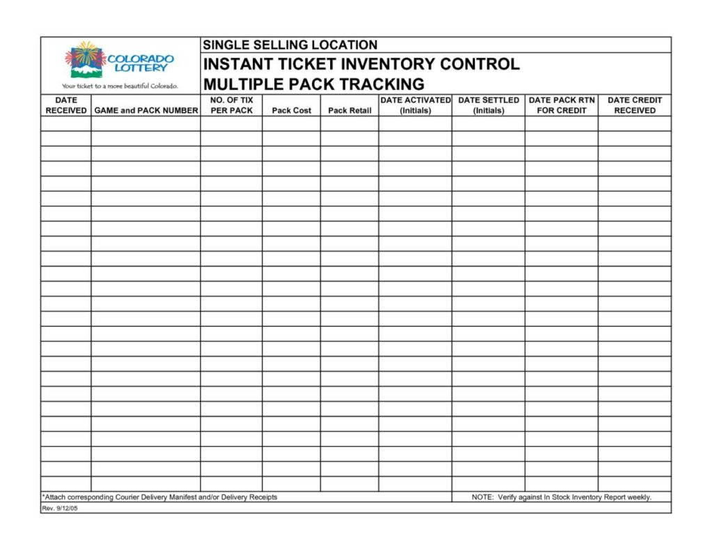 Microsoft Basic Inventory Control Spreadsheet