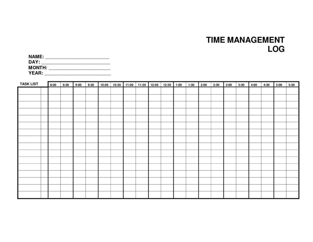 Microsoft Excel Time Management Template