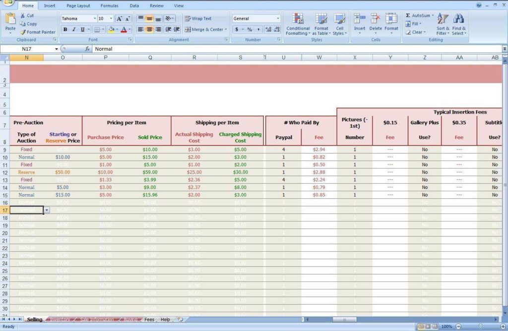 Small Business Inventory Management Spreadsheet