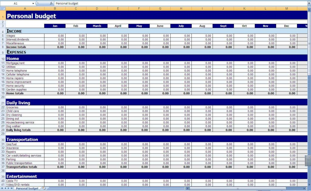 Bookkeeping Templates for Small Business UK and Microsoft Excel Small Business Accounting