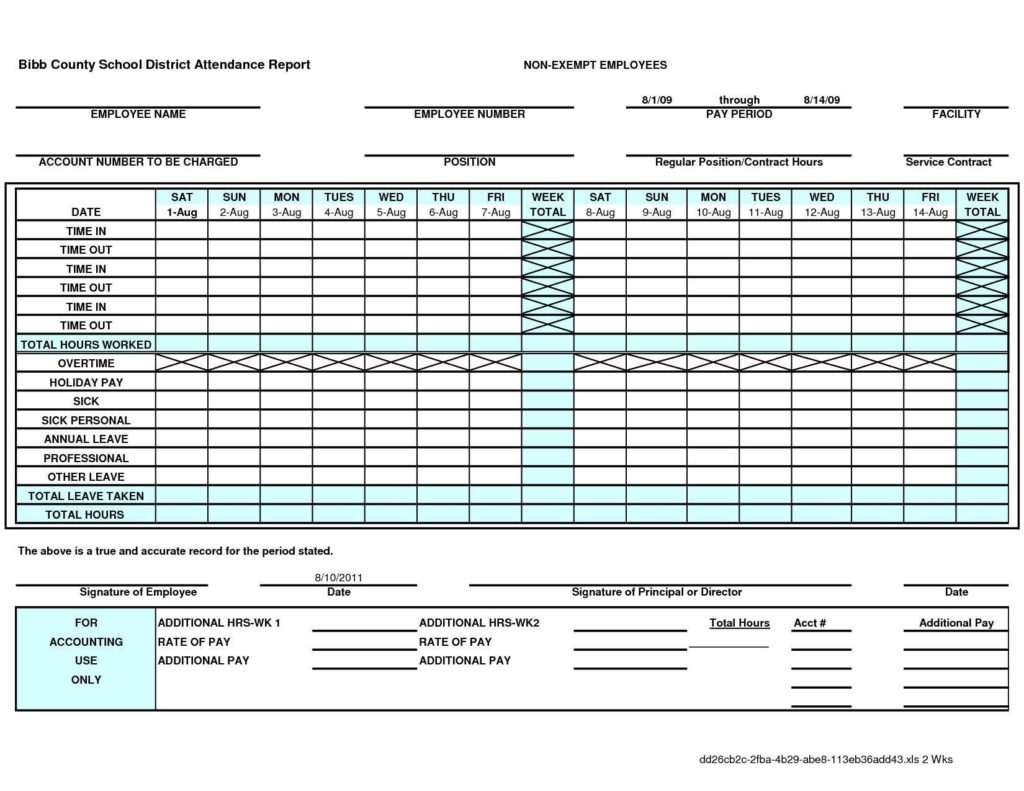 Employee Attendance Tracking Template Excel and Employee Attendance Sheet in Ms Access