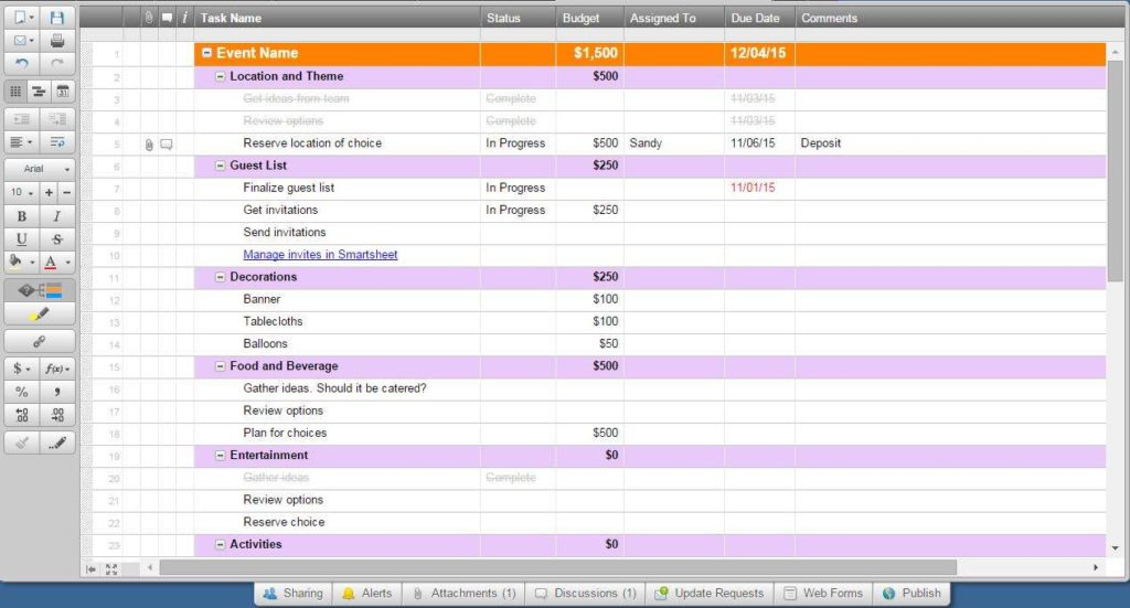 Employee Task Management Excel Template and Task Management Excel Spreadsheet Template