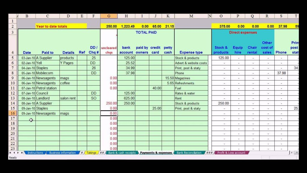 Excel Small Business Accounting Software Free and Best Free Bookkeeping Templates for Small Business