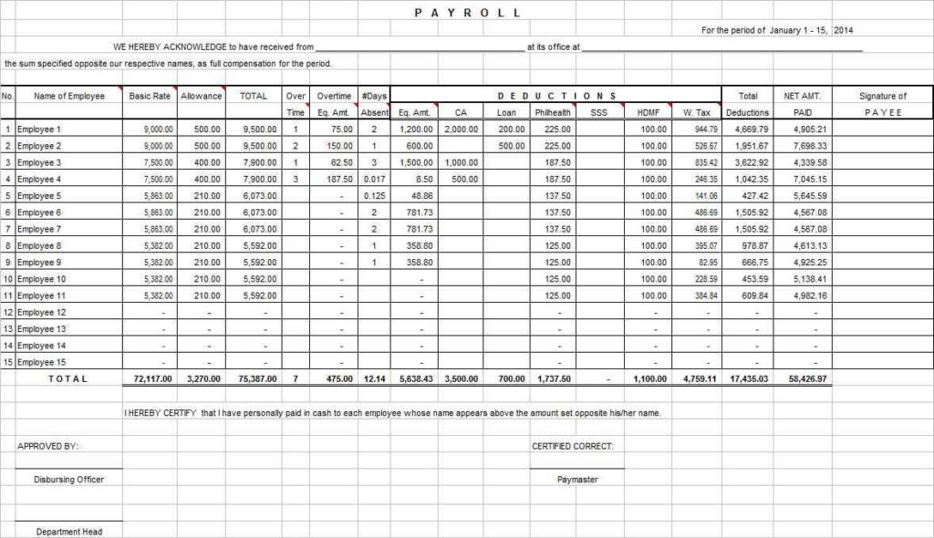 Excel Spreadsheet Business Expenses and Microsoft Excel Templates Business Expenses