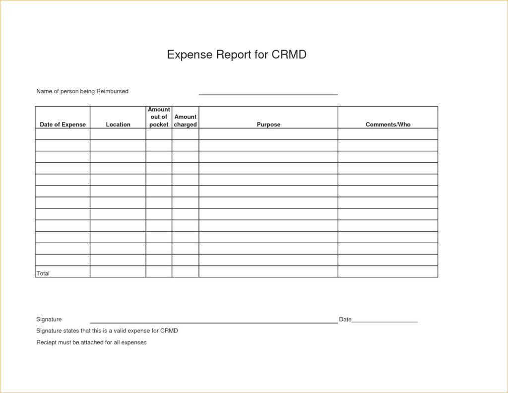 Expense Report Spreadsheet Template Excel and Free Templates for Business Expenses