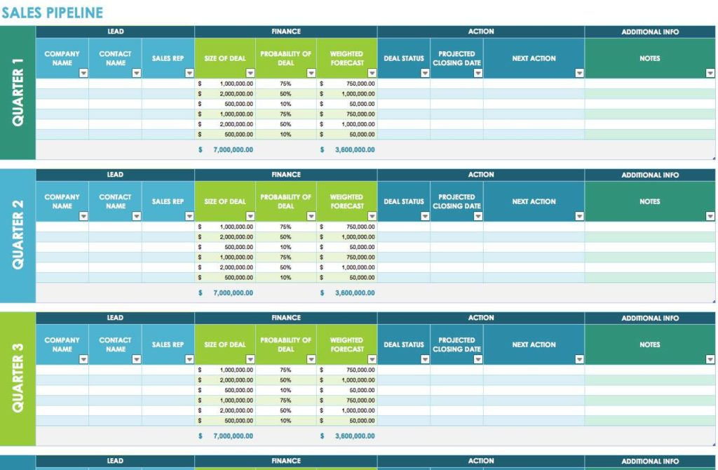 Free Sales Lead Tracking Spreadsheet and Excel Sales Spreadsheet