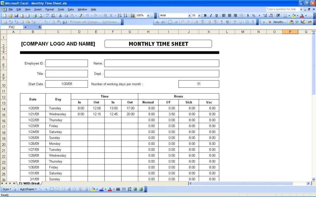 Microsoft Excel Templates for Payroll and Excel Spreadsheet Payroll Formula