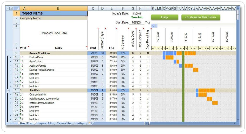 Project Management Excel Spreadsheet Template and Project Tracker Excel Spreadsheet