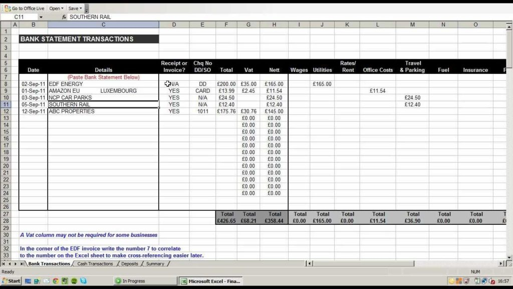 Small Business Income and Expense Manager Spreadsheet with Business Income Expense Worksheet
