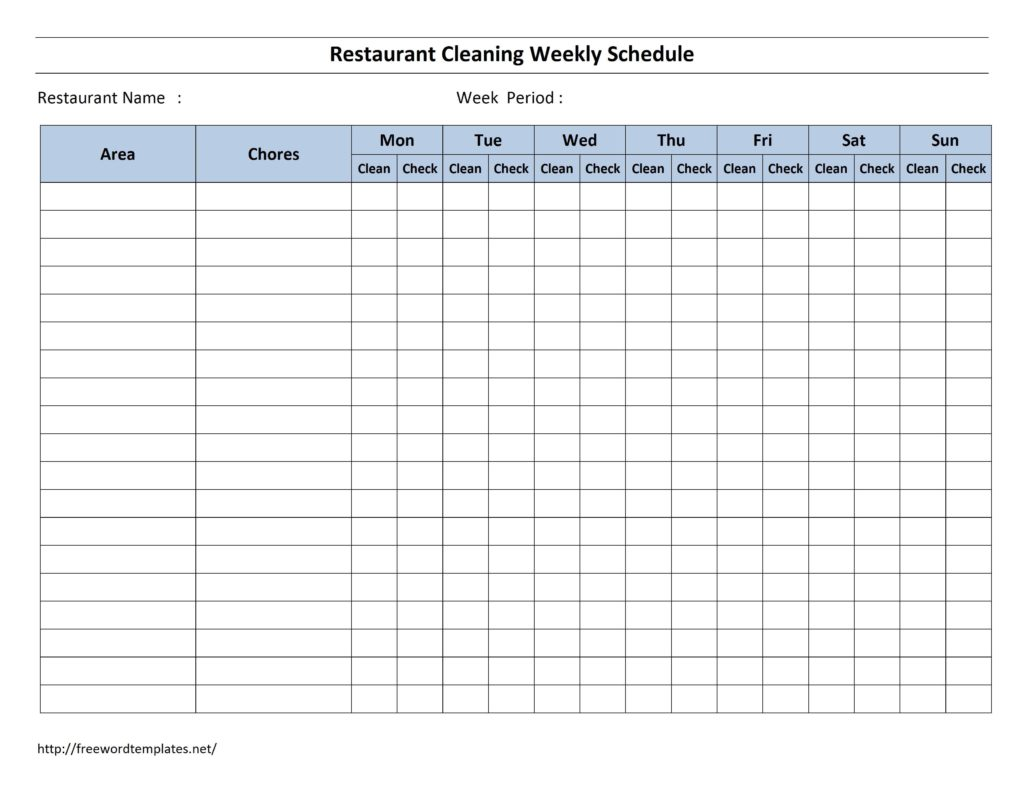 Weekly Employee Shift Schedule Template Excel and Spreadsheet for Employee Schedule
