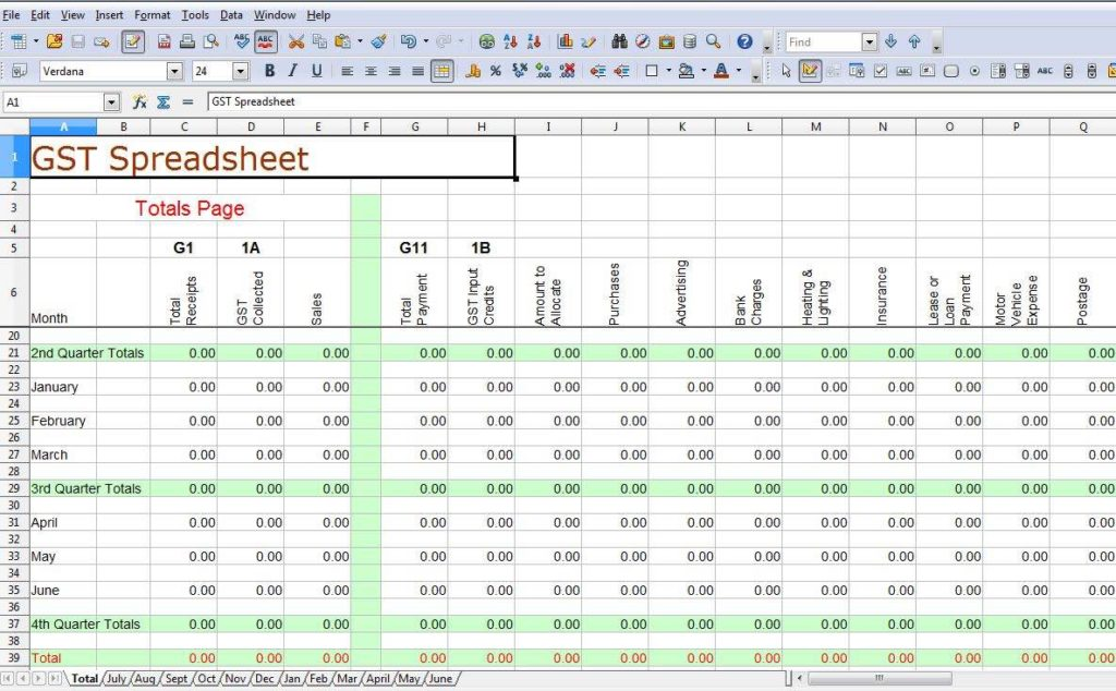 Financial Spreadsheet for Small Business and Expense Worksheet for Small Business