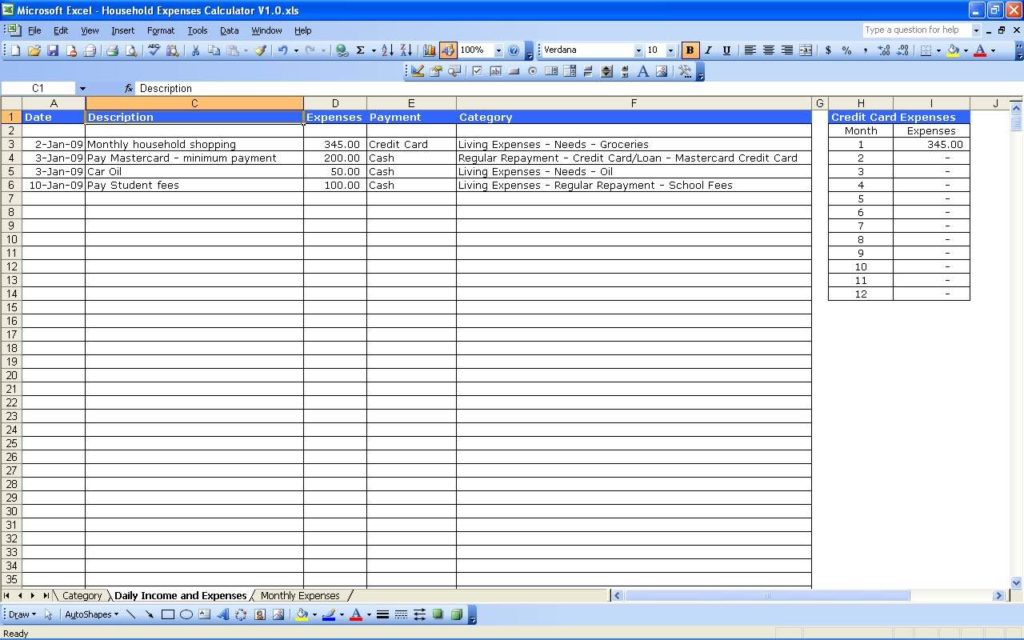 Financial Statement Templates for Small Business and Budget Worksheet for Small Business