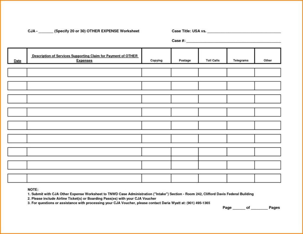 Mileage Expense Report Spreadsheet and Travel Expense Report Template