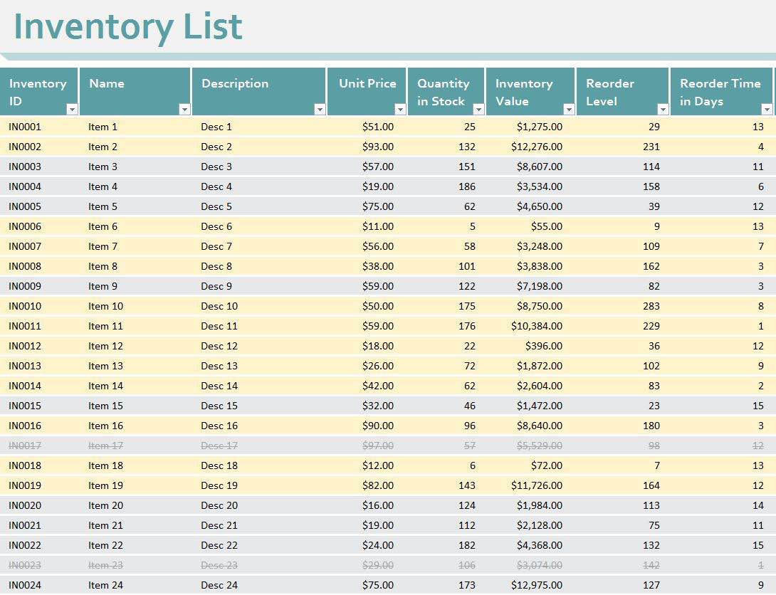 Simple Inventory Spreadsheet Excel and Create Basic Inventory Spreadsheet Excel